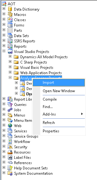 Import sas project